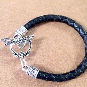 Jewelry - Dragonfly leather bracelet